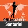 Santorin Déconnecté carte et guide de voyage