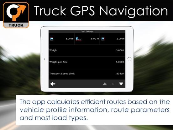 Truck GPS Navigation & Maps iPad