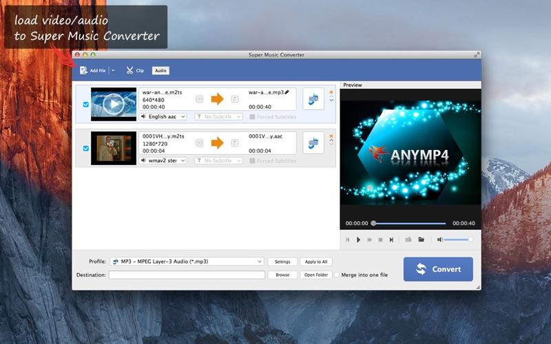 Screenshot Super Musique Convertisseur