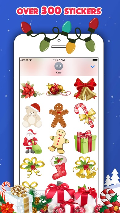 Screenshot of 300 Christmas Stickers2