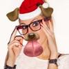 Custom Winter Animal Face: Funny Snap Stickers