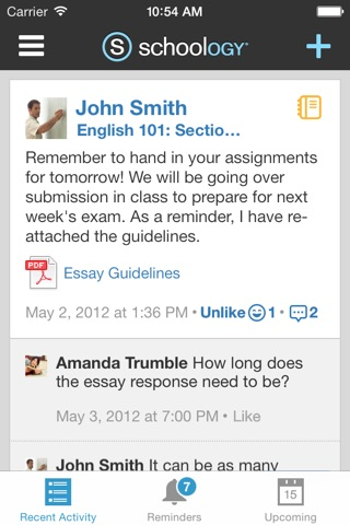 Schoology screenshot 1