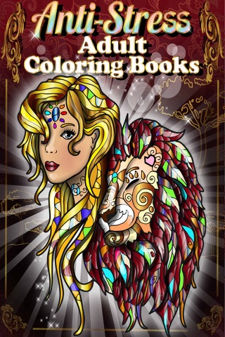 Adult Coloring Books Anti Stress Cats Pages Games! screenshot 1
