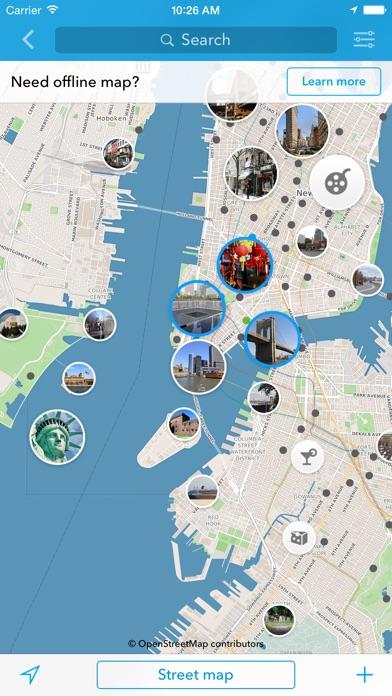 new york carte hors ligne et guide de la ville dans l app store. Black Bedroom Furniture Sets. Home Design Ideas
