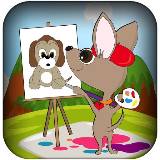Paint Your Virtual Pet - Draw Fun Art With Your Baby Puppy FREE iOS App