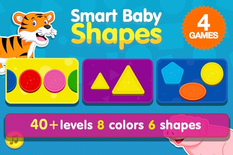 Smart Baby Shapes: Learning games for toddler kids screenshot 1