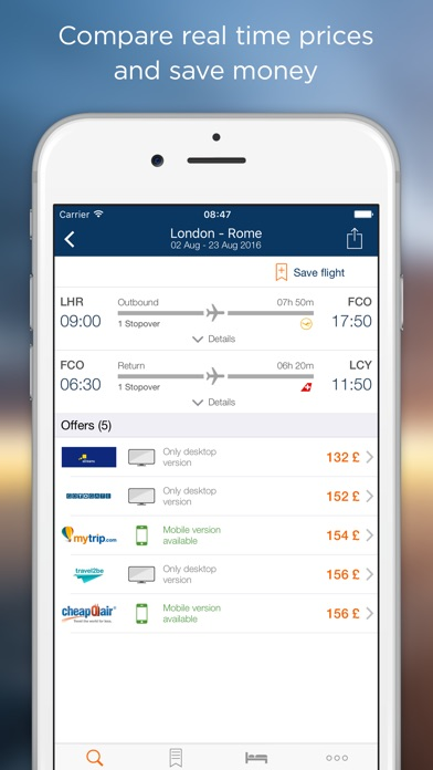 idealo flights cheap tickets on the app store. Black Bedroom Furniture Sets. Home Design Ideas