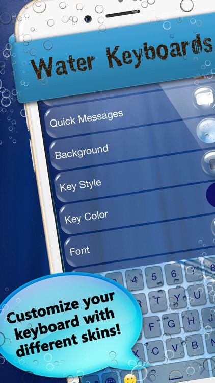 Water Keyboards H2o Keyboard Lockscreen Themes By Marko Jankovic