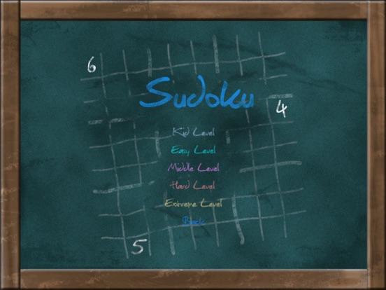 Sudoku on Chalkboard для iPad