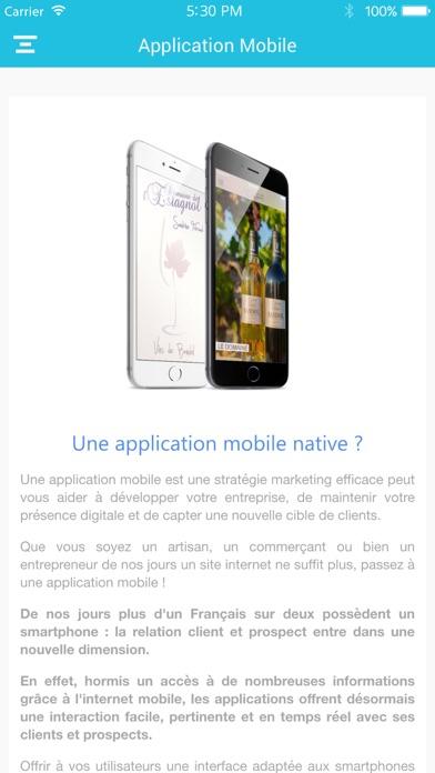 Capture d'écran de Claris App Mobile3