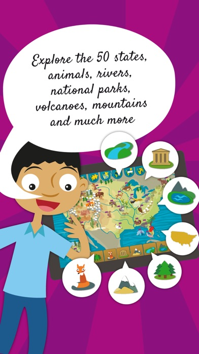 Kids US Atlas United States Geography Games On The App Store - United states map rivers and mountains