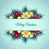 Винтажные стикеры на Рождество и Новый Год 2017