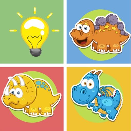 Dinosaur animals matching remember game preschool iOS App