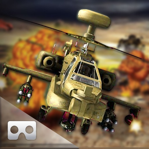 VR Helicopter War-Zone : Gun-ship Covert Attack 3D iOS App