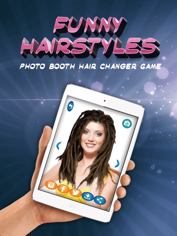 Funny Hairstyles Photo Booth Hair Changer Game-ipad-0