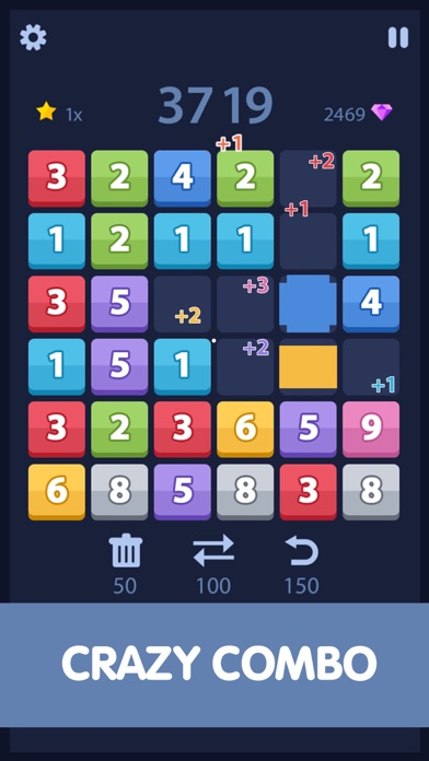 Match and Merge - Six board sizes number puzzle Screenshot