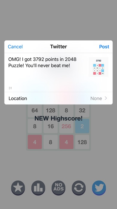 2048 Number Tiles Puzzle - Free Games Screenshot