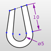 Updraw - create 2D CAD drawings with dimensions
