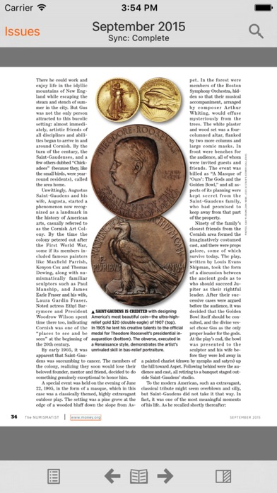 The Numismatist Magazine review screenshots