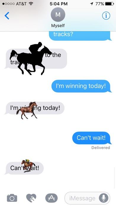 Horse Racing Stickersのスクリーンショット1