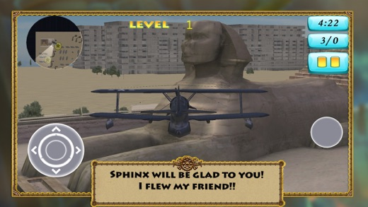 3D Flight Sphinx and Pyramid of Cheops Simulation Screenshot