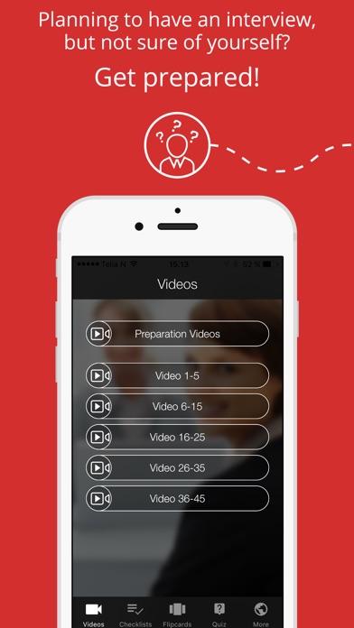 Job Interview App Screenshots