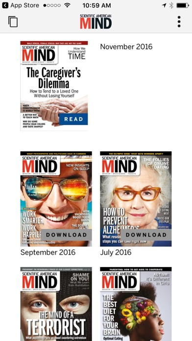 Scientific American Mind review screenshots