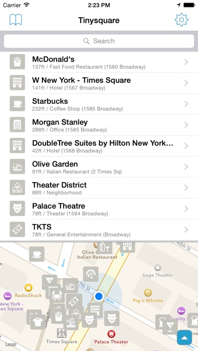 Tinysquare for Foursquare Screenshots