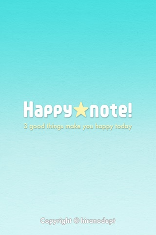 Think happy thoughts! Happynote screenshot 1