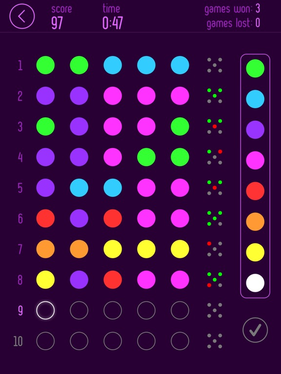 Mastermind Pro • Code Breaker Screenshots