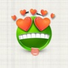Green Emoji Sticker Pack for iMessage