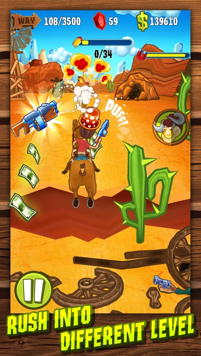 Shoot and Run: Western Runner Game Screenshot