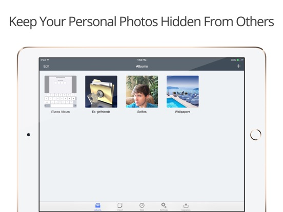 Screenshots of Private Photo Vault Pro for iPad