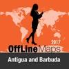 Antigua and Barbuda Offline Map Trip Guide antigua barbuda map