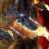 A Helicopter Driving Fast In Combat - A Helicopter Hypnotic X-treme Game