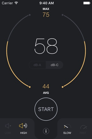 dB Decibel Meter - sound level measurement tool screenshot 1