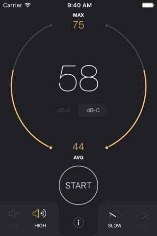 dB Decibel Meter - sound level measurement tool screenshot 1