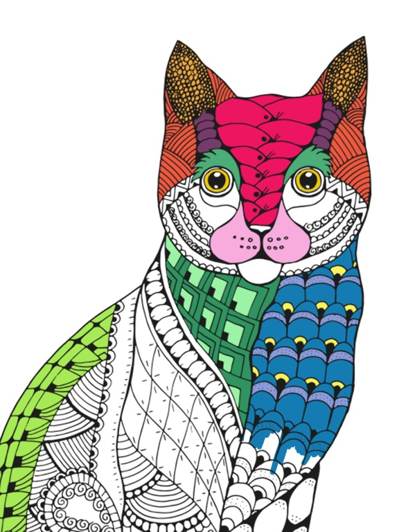 Cats Mandalas Coloring Book For Adults