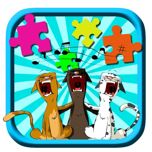 Crazy Singing Pep Pet Jigsaw Puzzle Game For Kids iOS App