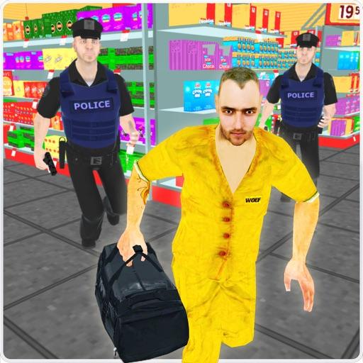 Gangster Escape Supermarket 3D iOS App