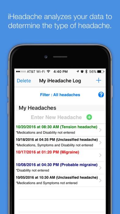 migraine log