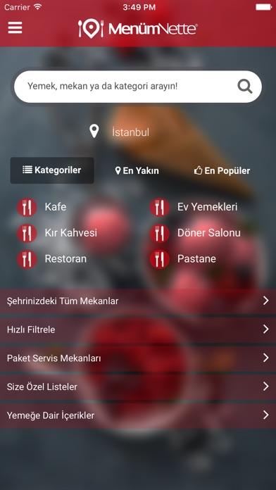MenümNette - Yemek ve Mekan Arama Motoru Screenshot