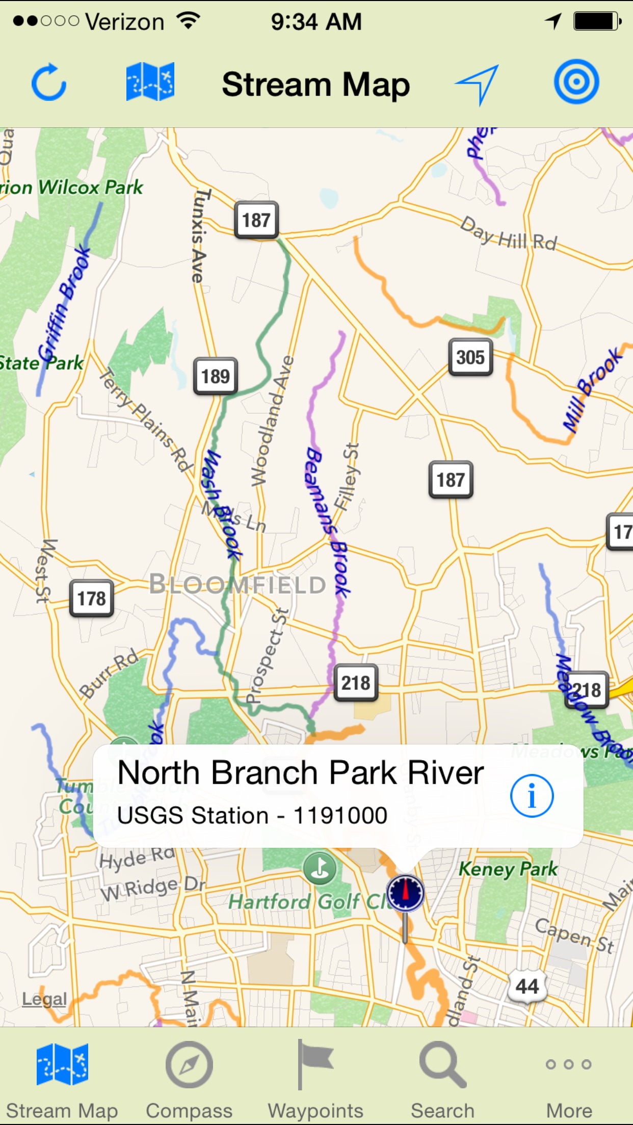 Stream Map USA Northeast by Gogal Publishing Company – Map Usa North East