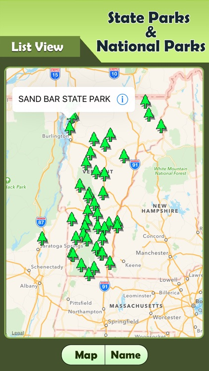 Vermont State Park Map Vermont   State Parks & National Parks Guide by Pabbu Vinod Kumar