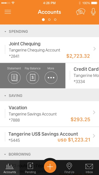 how to find tangerine account number