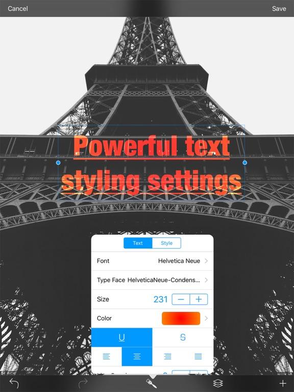 Type - text on image Screenshots