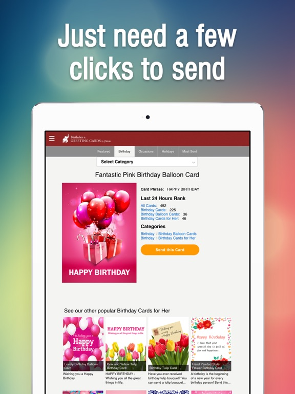 Birthday Greeting Cards by Davia Free eCards on the App Store – Birthday Cards for Ipad