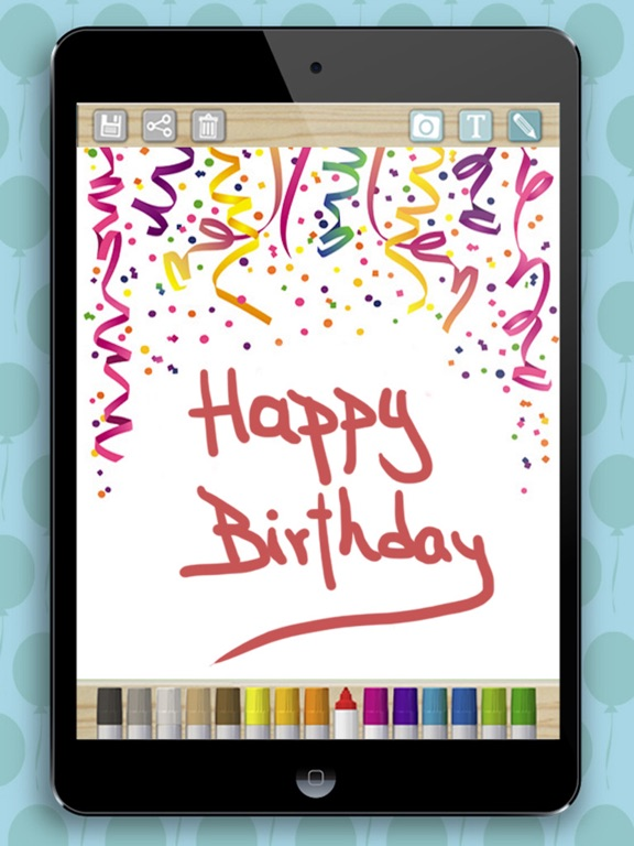 Create birthday cards and design postcards to wish a happy – Birthday Cards for Ipad