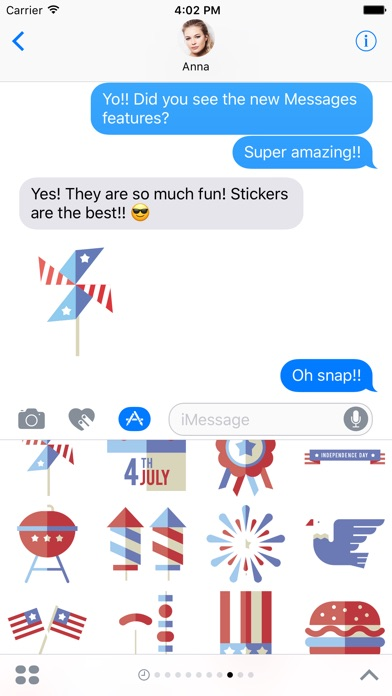 Independence Sticker Pack For Imessage review screenshots
