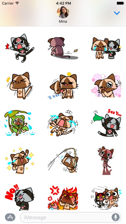 Monster hunter airou cat stickers for imessages